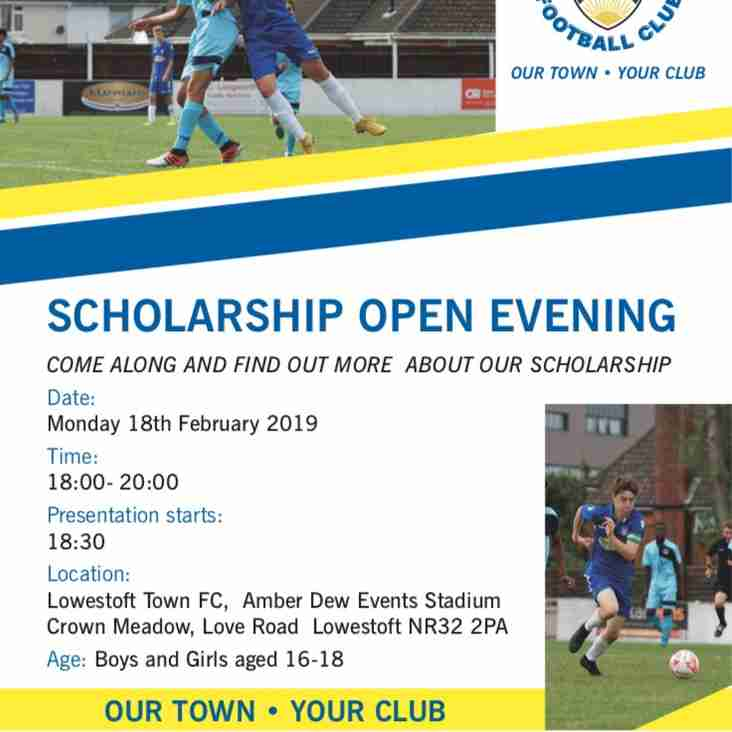 LTFC Scholarship Open Evening