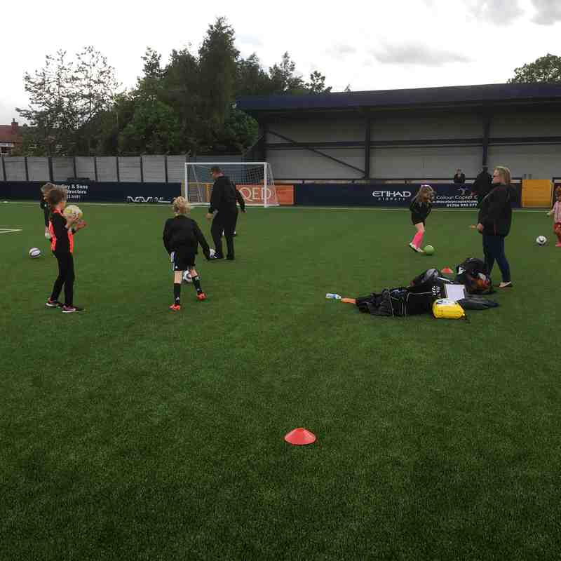 Training at Hyde United FC