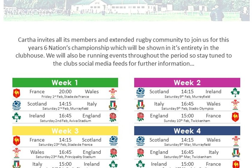 Six Nations - All games live on our big screen