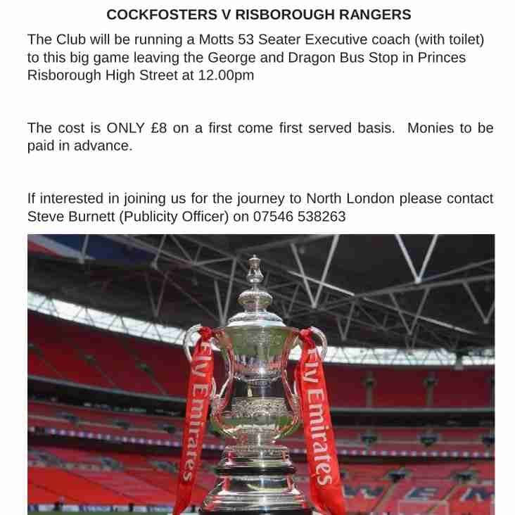 Emirates FA Cup match-day official coach travel details