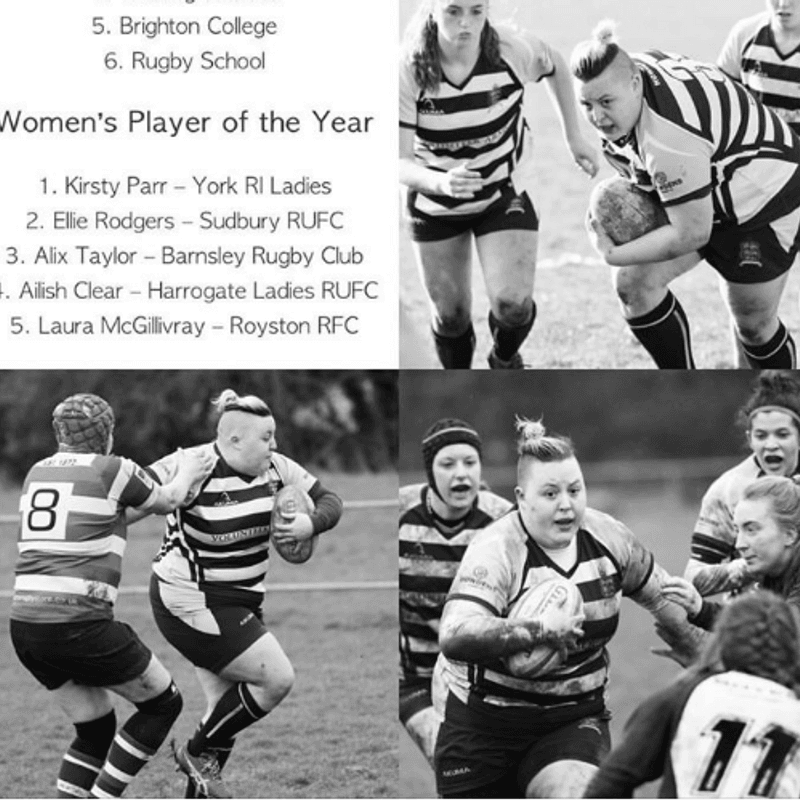 RI Ladies Player Shortlisted for National Rugby Award