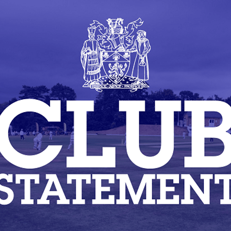 Club Statement: Chairman