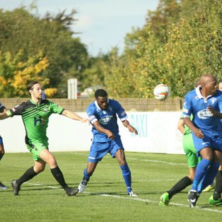 Town secure first home league win with 2-0 victory over Gosport Borough