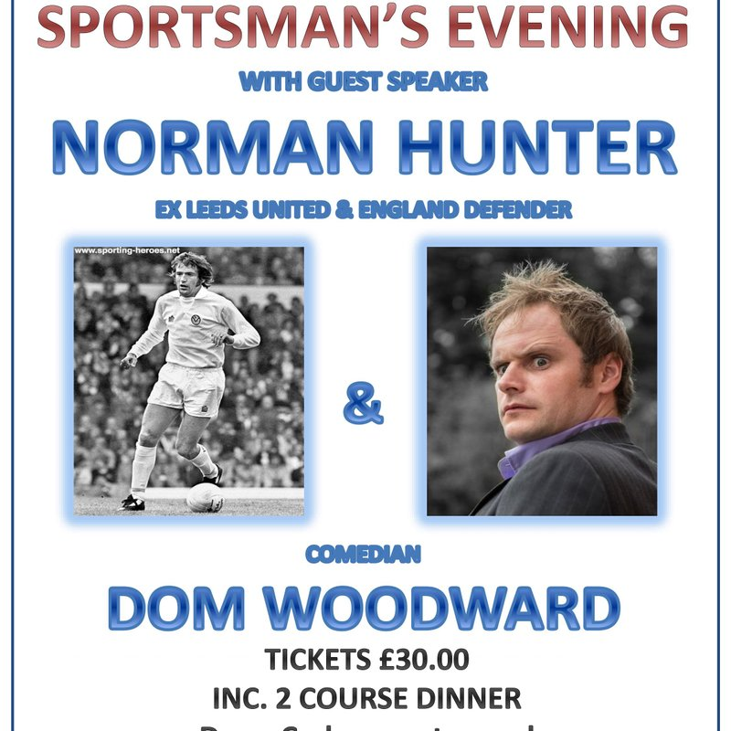"""Sportsman's Evening with Norman """"Bite yer legs"""" Hunter Friday 9th March at 7pm"""
