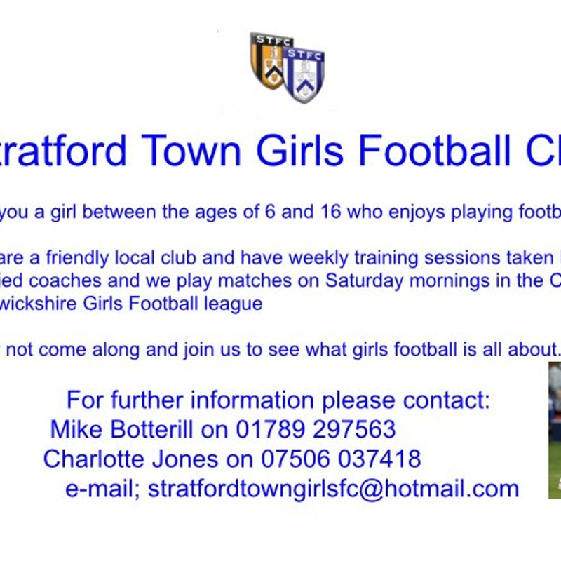 Attention all girls 6-16 who enjoy playing football!
