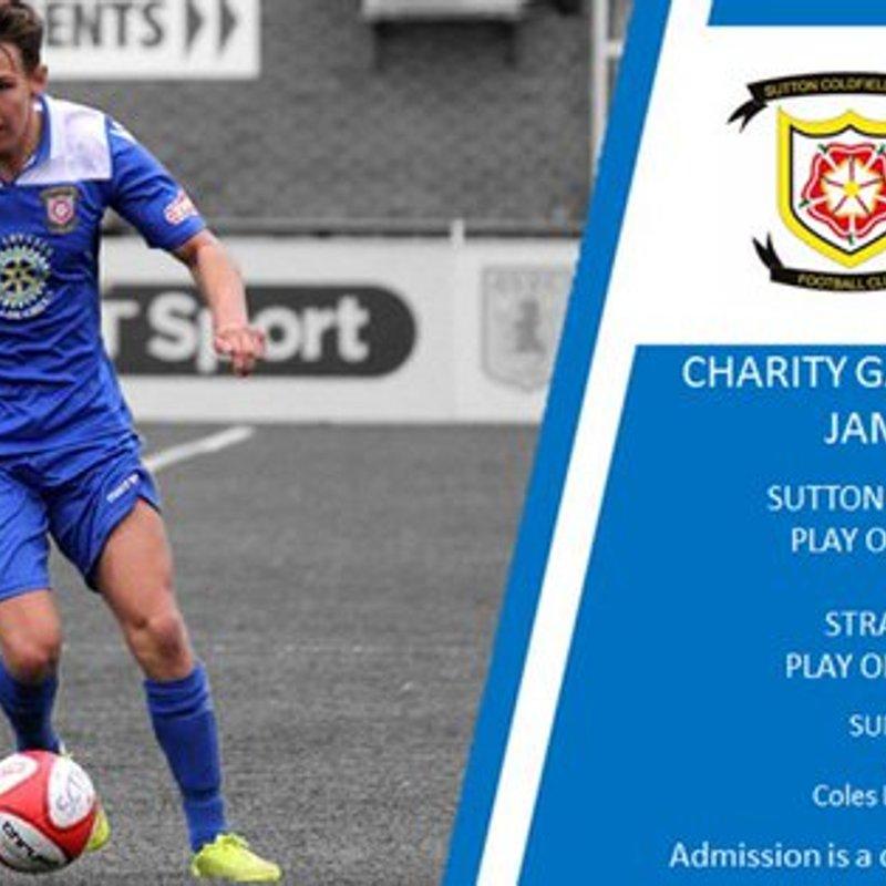 Today's Jamie Sheldon charity game has been postponed