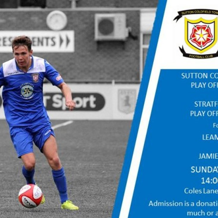 Jamie Sheldon&#039;s football charity matches today at Sutton Coldfield is kick off 2pm<