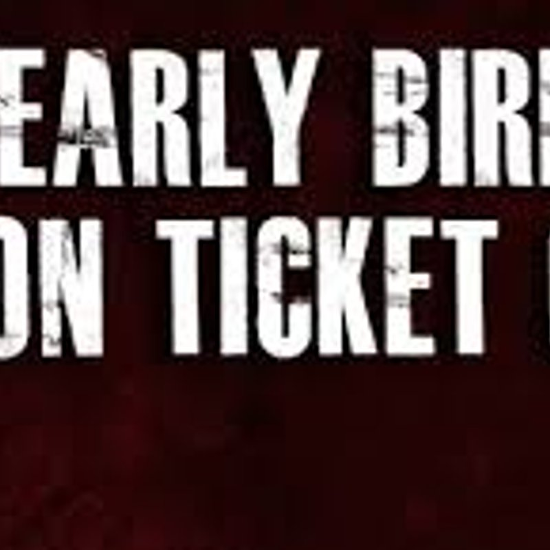 Early Bird Season Ticket Offer but hurry offer ends 15th June 2018