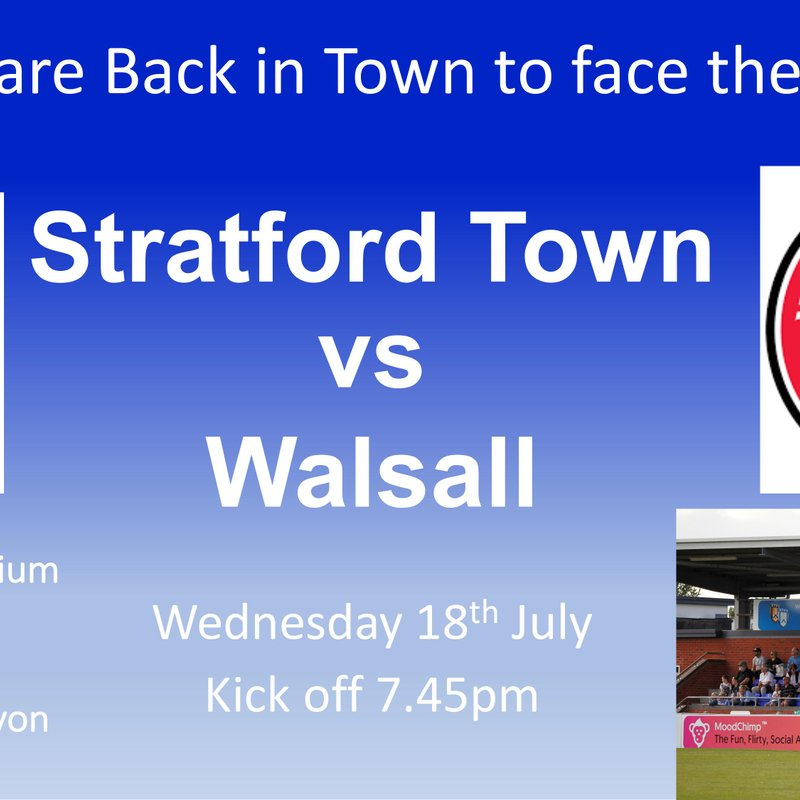 The Byfield Boys make their home debut vs Walsall this Wednesday 18th July KO 7.45pm