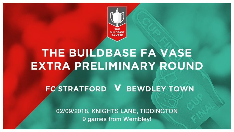 Fc Stratford Host Bewdley Town In The Fa Vase On Sunday 2nd