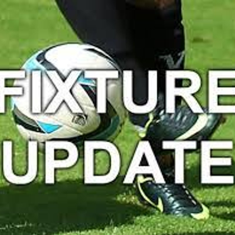 Away league game at Alvechurch re arranged for Tuesday November 27th KO 7.45pm