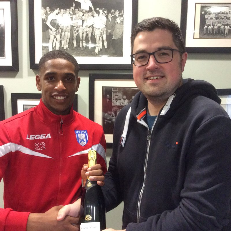 Marstons Man of the Match Wilson Carvalho