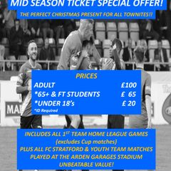 Mid Season Special Ticket offer