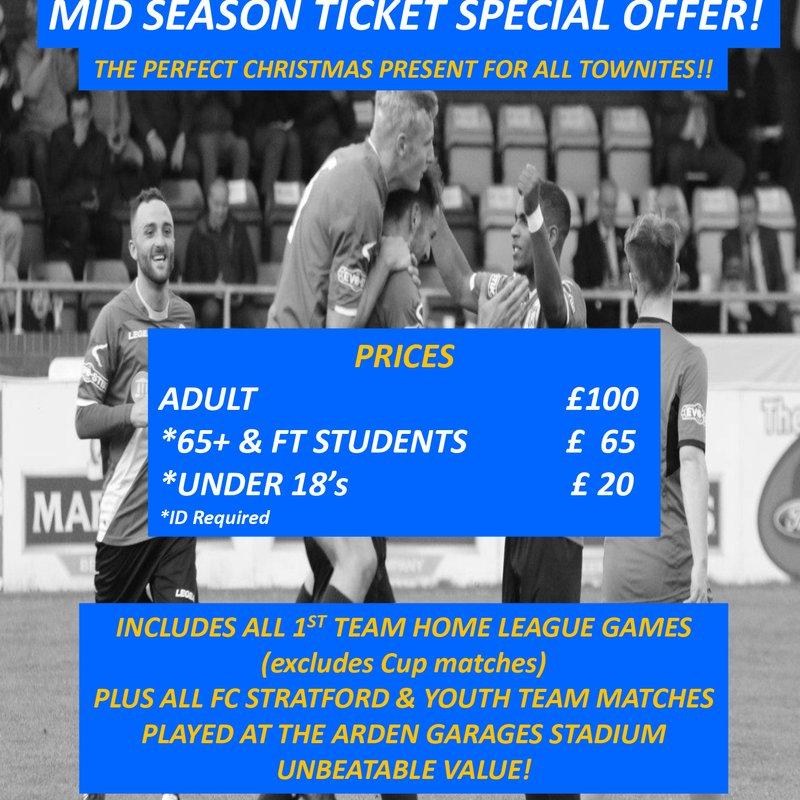 Mid Season Ticket Special Offer!