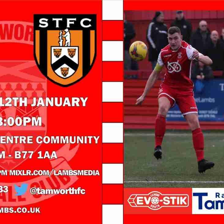 Matchday! we visit Tamworth today KO 3pm