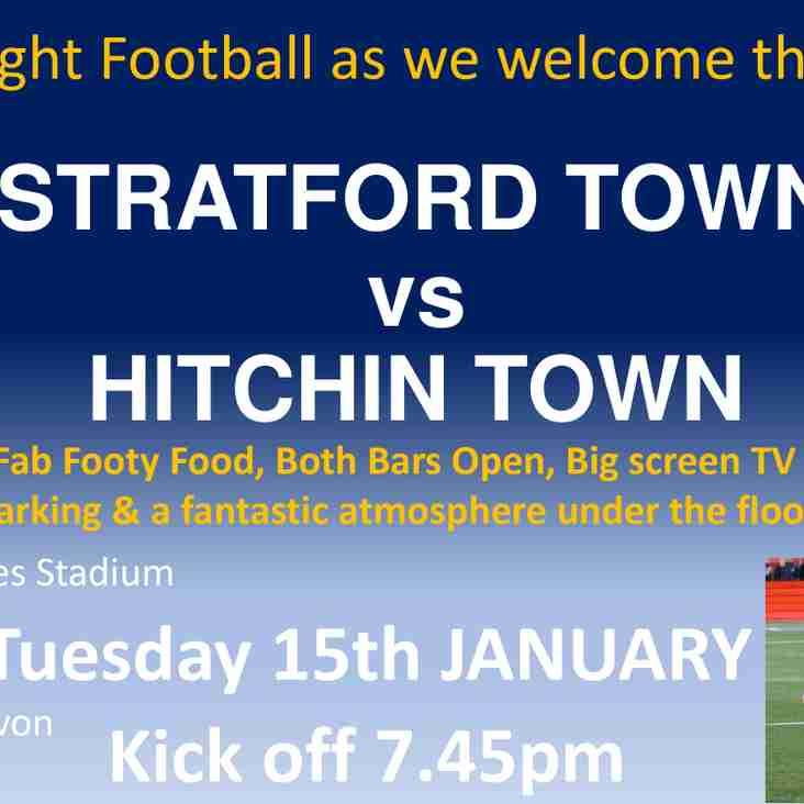 MATCHNIGHT! we host Hitchin Town tonight, Tuesday 15th January KO 7.45pm