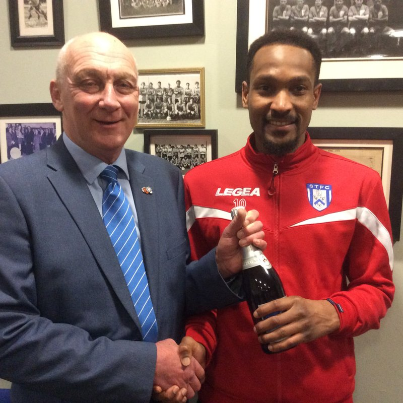 Nabil Shariff Marstons Man of the Match Award vs Needham Market