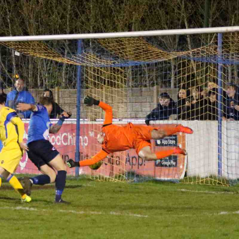 Stratford Town 3 v 2 Lowestoft Town CSS League Cup semi Final pics by GRANTY
