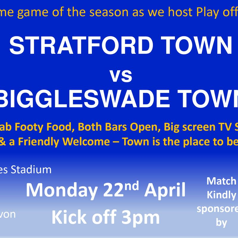 HUGE MATCH TODAY as we host Biggleswade Town KO 3pm