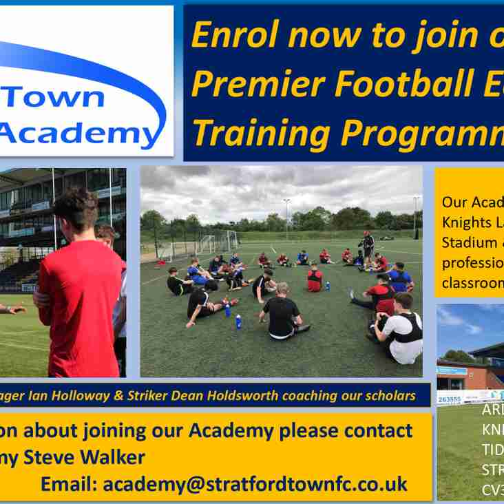Enrol now to join our Academy Premier Football Education Training Programme!