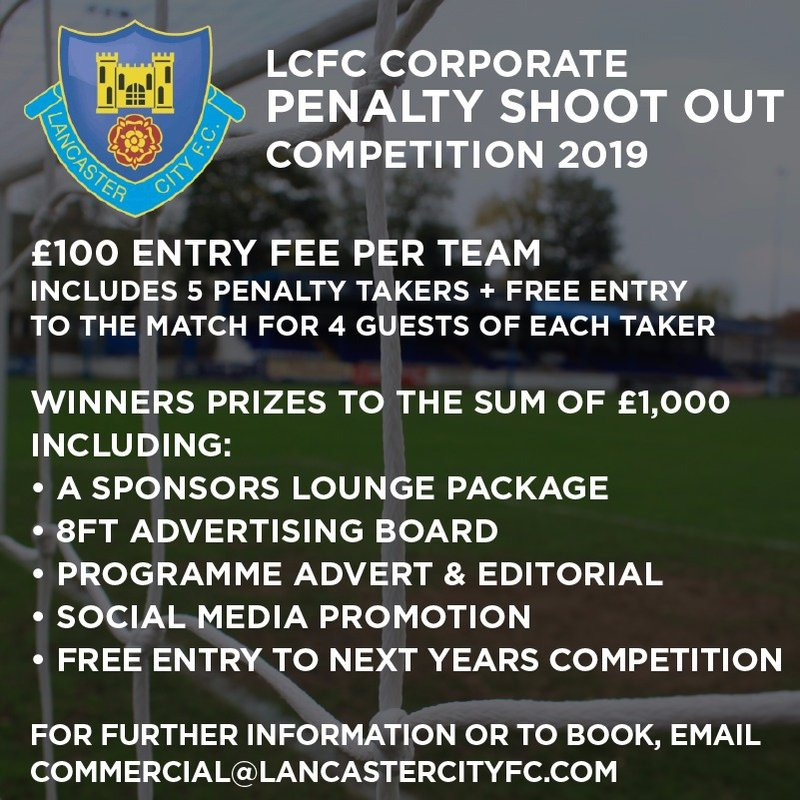 Lancaster City Football Club Introduce Corporate Penalty Shootout!