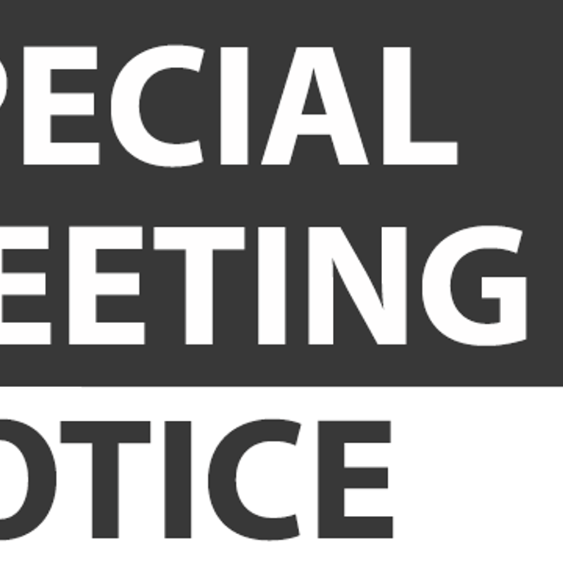Invitation to attend A&RPCC Special General Meeting - March 21st 2019