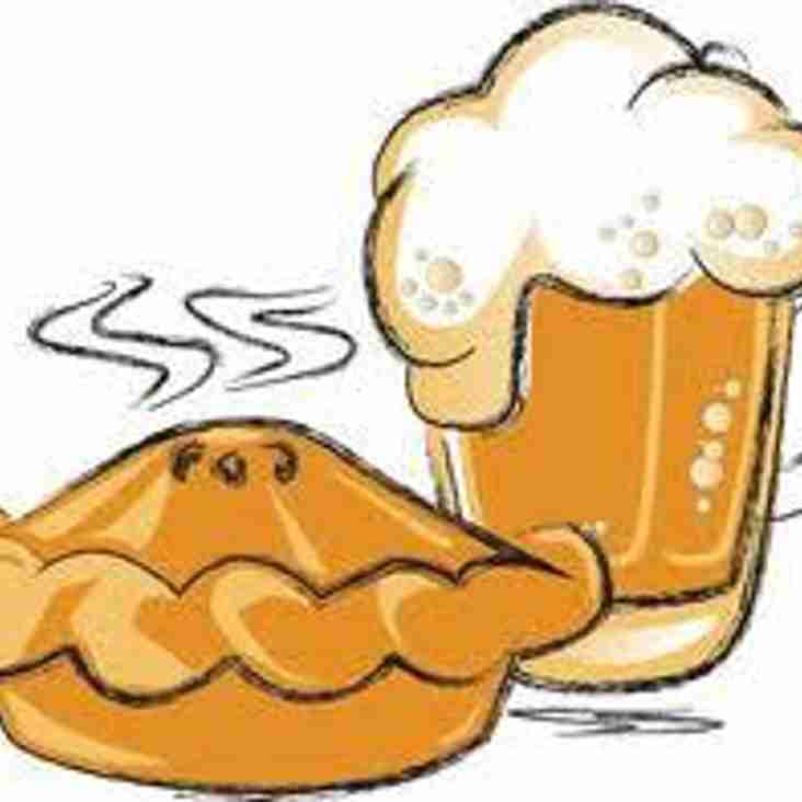 A PIE, PINT AND ADMISSION £10 FOR THE VISIT OF CARLTON TOWN SAT 13th  JANUARY 2018