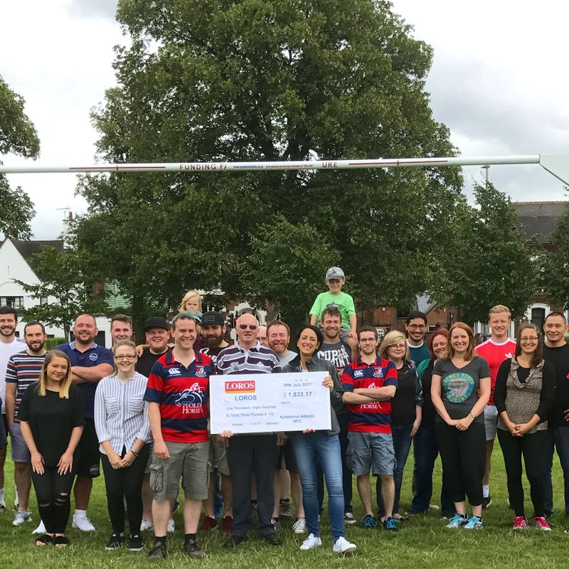 £1833.17 RAISED FOR LOROS, plus ROUNDERS & BAKE OFF