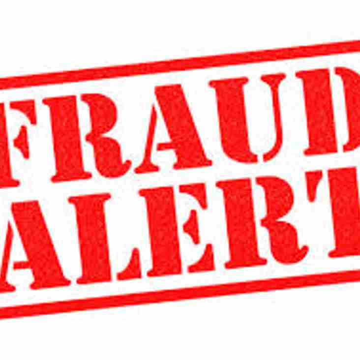 Club Members Beware - Fraud Attempt Today by Email
