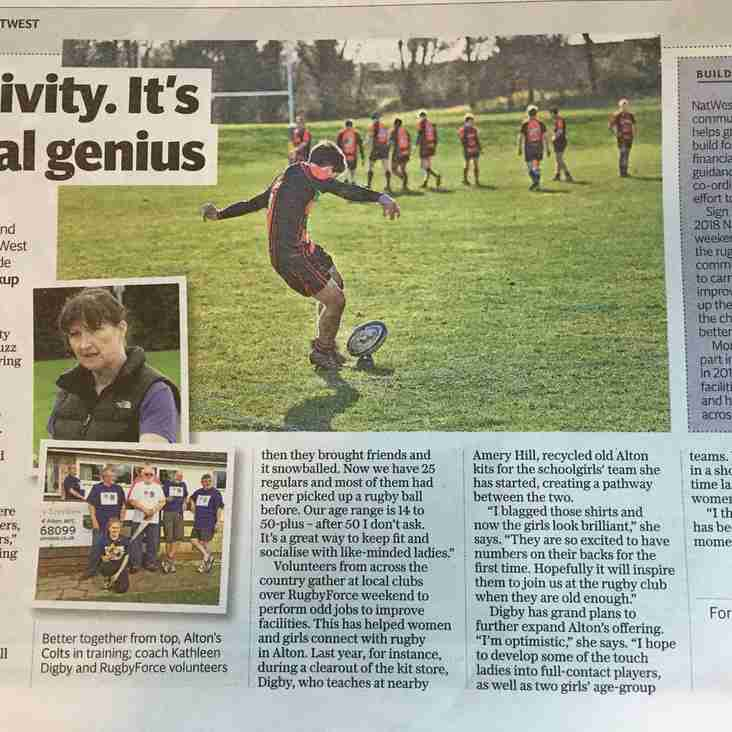 Alton RFC in the National Press