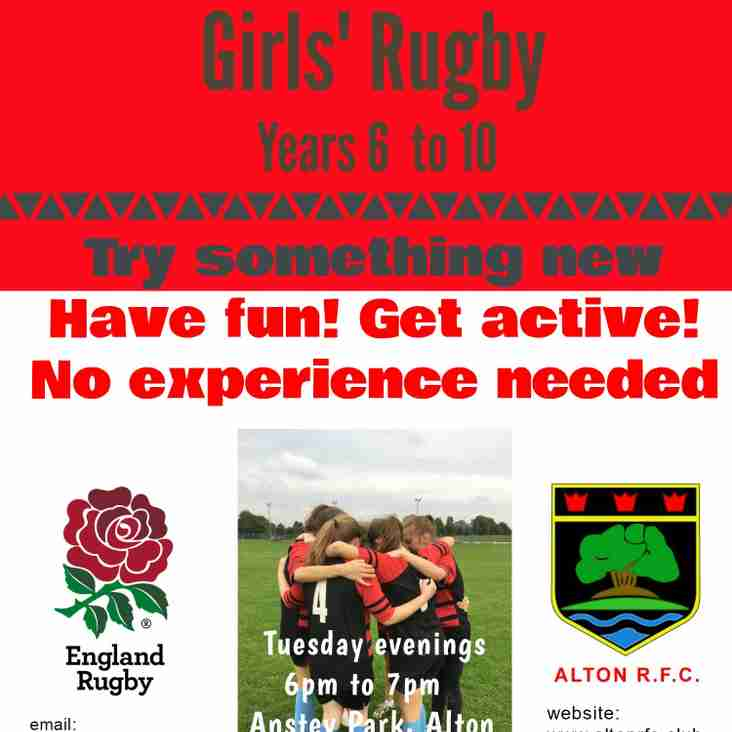 NEW - Girls' ( years 6-10) Rugby Starts at Alton RFC