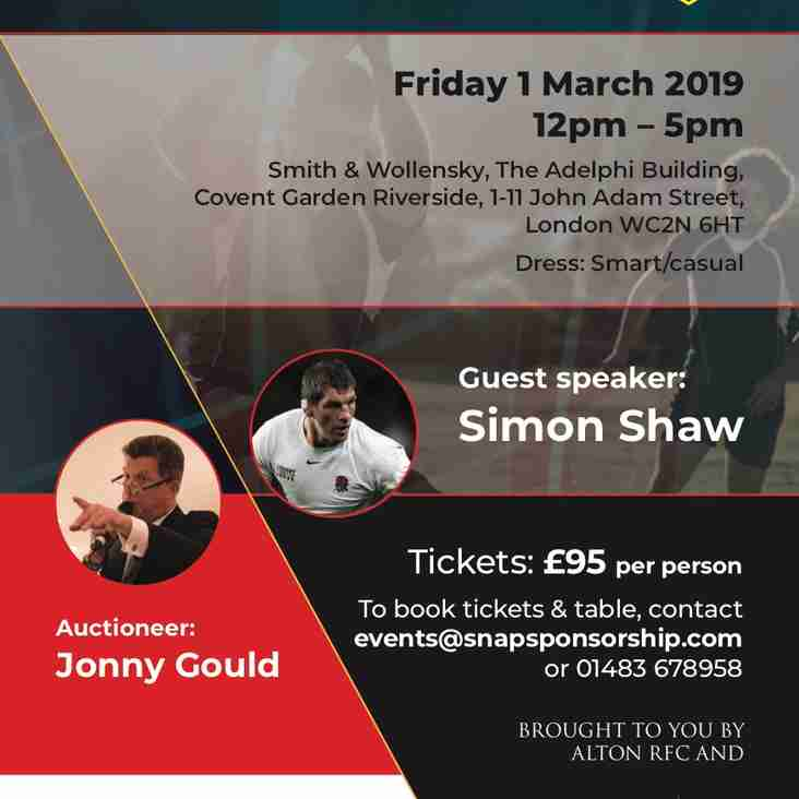 ARFC City Lunch - THE TIME TO BOOK IS NOW!