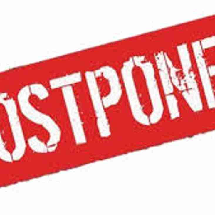 Ladies Matches Postponed