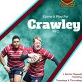 Join the Sussex 1 Champions! Crawley RFC welcome new players at all levels from first team to social