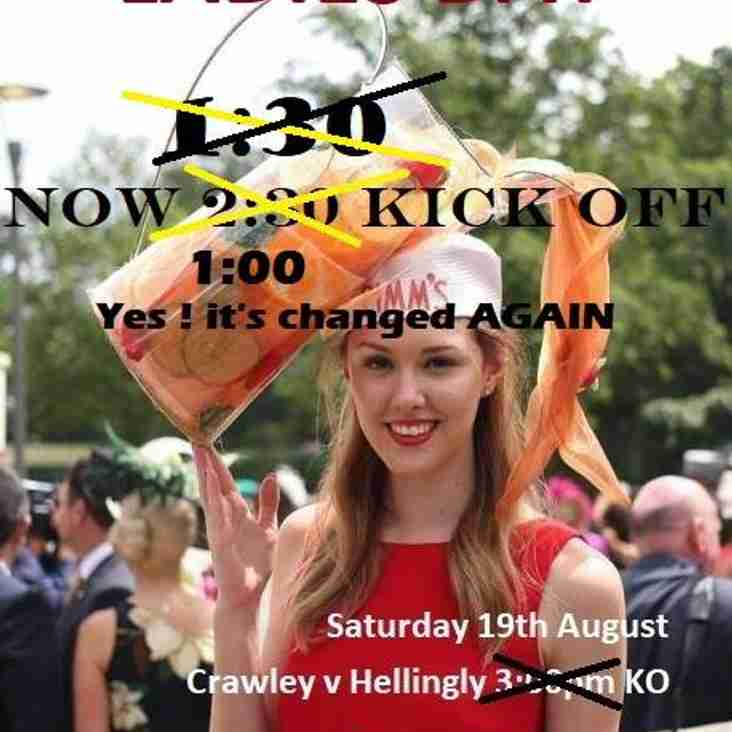 Ladies day at Crawley RFC - Free Pimms for the ladies - 19th August - Crawley Vs Hellingly 1:00pm Kickoff