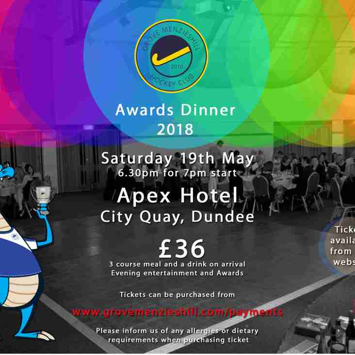 Last chance for Awards Dinner tickets!