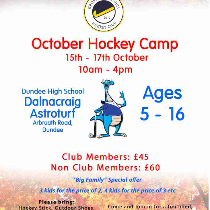 Change of dates for October Youth Camp!
