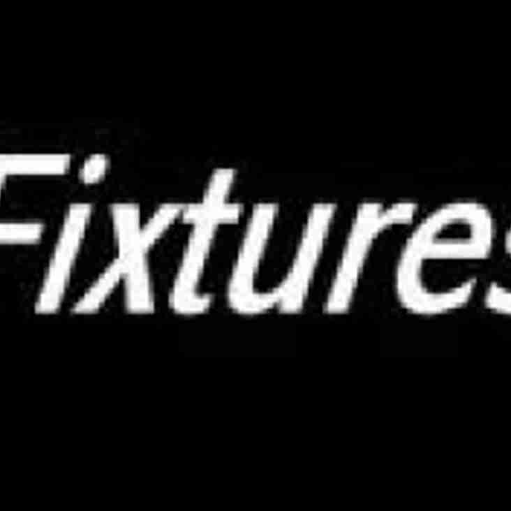 Fixture - Saturday 17th November
