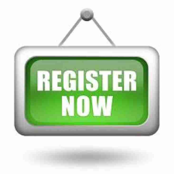 Registration - Sunday 2nd September