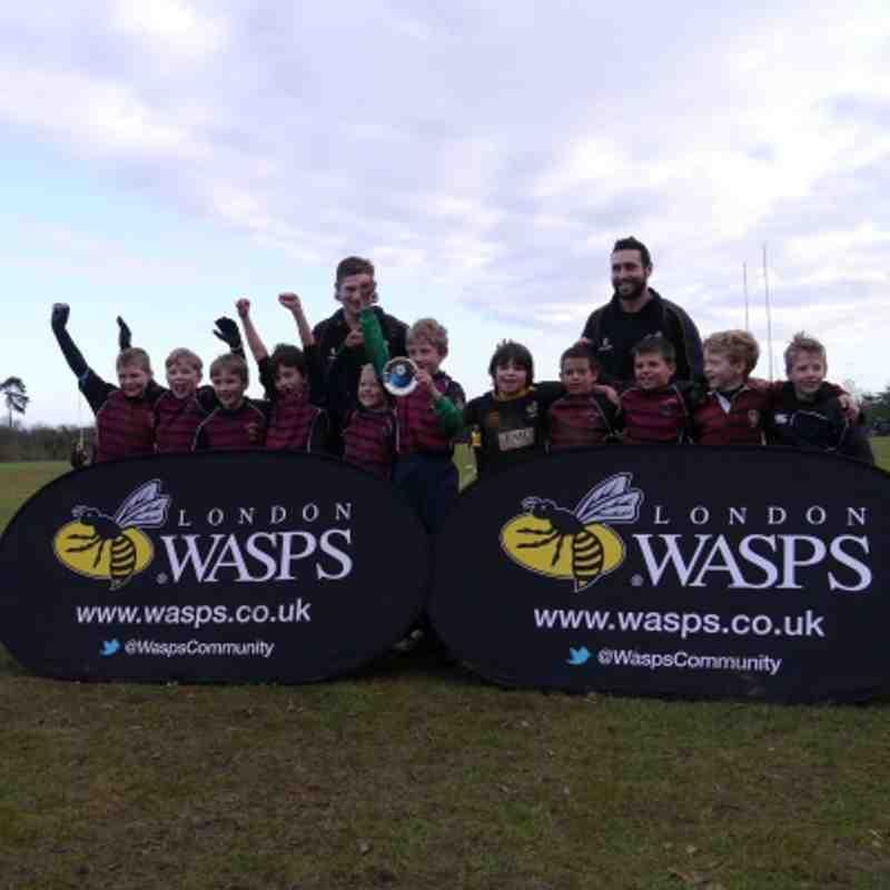 Aylesbury's U9s win Wasps' silverware