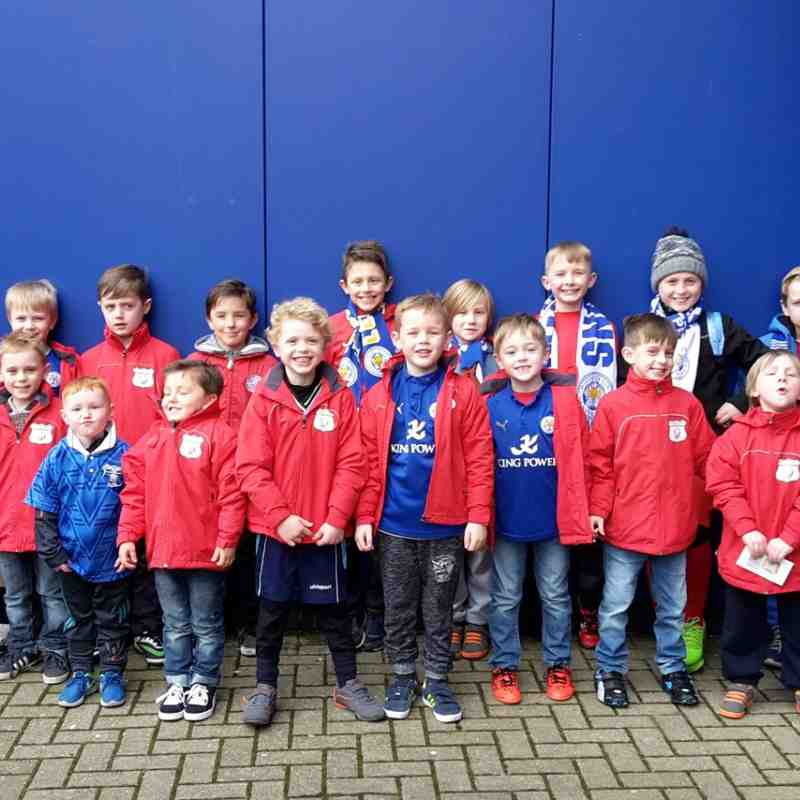 Under 7's,6'sand 5's Flag bearing at Leicester City's King Power Stadium