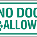 Sorry 'NO DOGS'