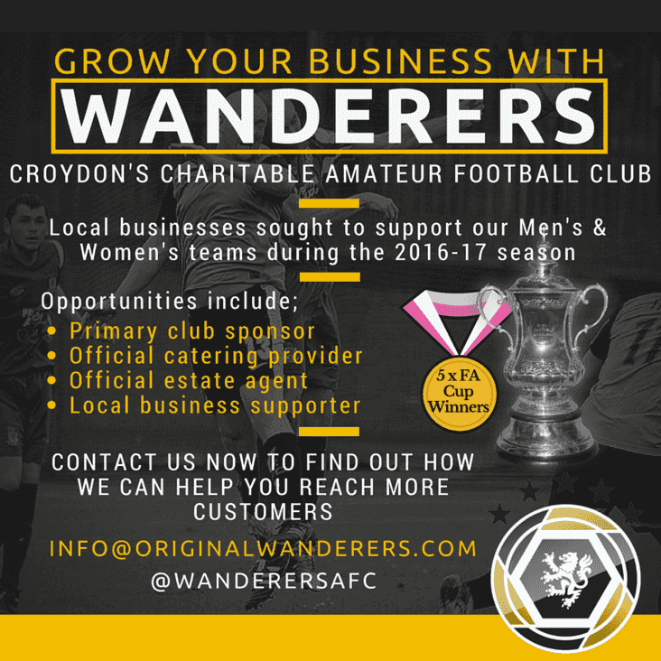 Wanderers Seek Local Businesses for Sponsorship Opportunities