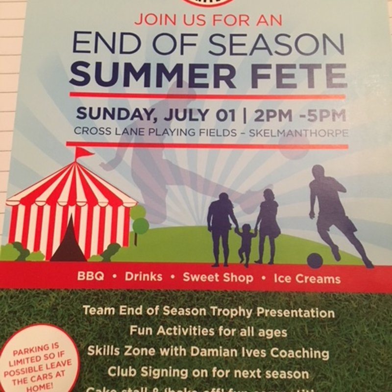 Club Signing on Day 2018/19 - End of Season 2017/18 Summer Fete