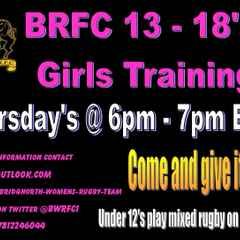 Thursday evening under 18's Girls Training