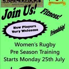 Women start Pre Season Training