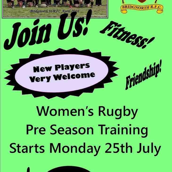 Women start Pre Season Training