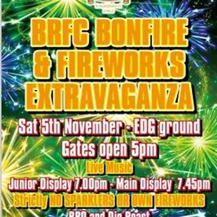 BRFC Bonfire and Fireworks Extravaganza!!