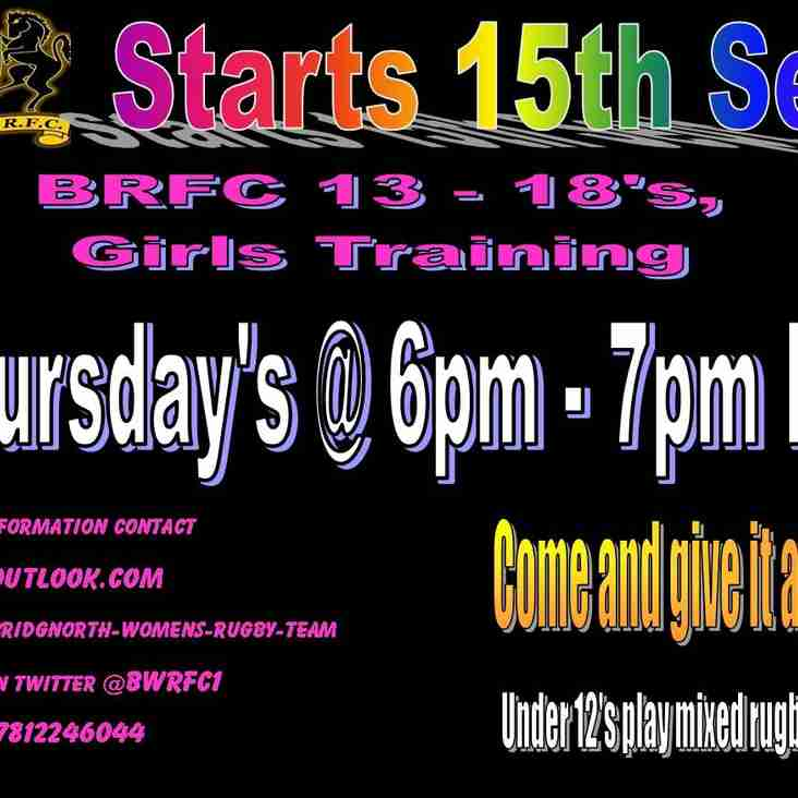 Girls Rugby Training