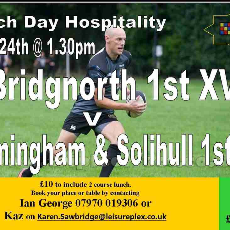 This Saturday's Match Day Hospitality